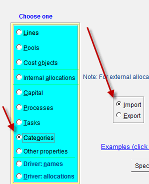 Import Data from Excel to ABC Focus Activity Based Costing