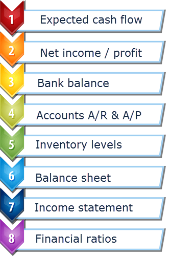 What Visual Cash Focus business budget software forecasts